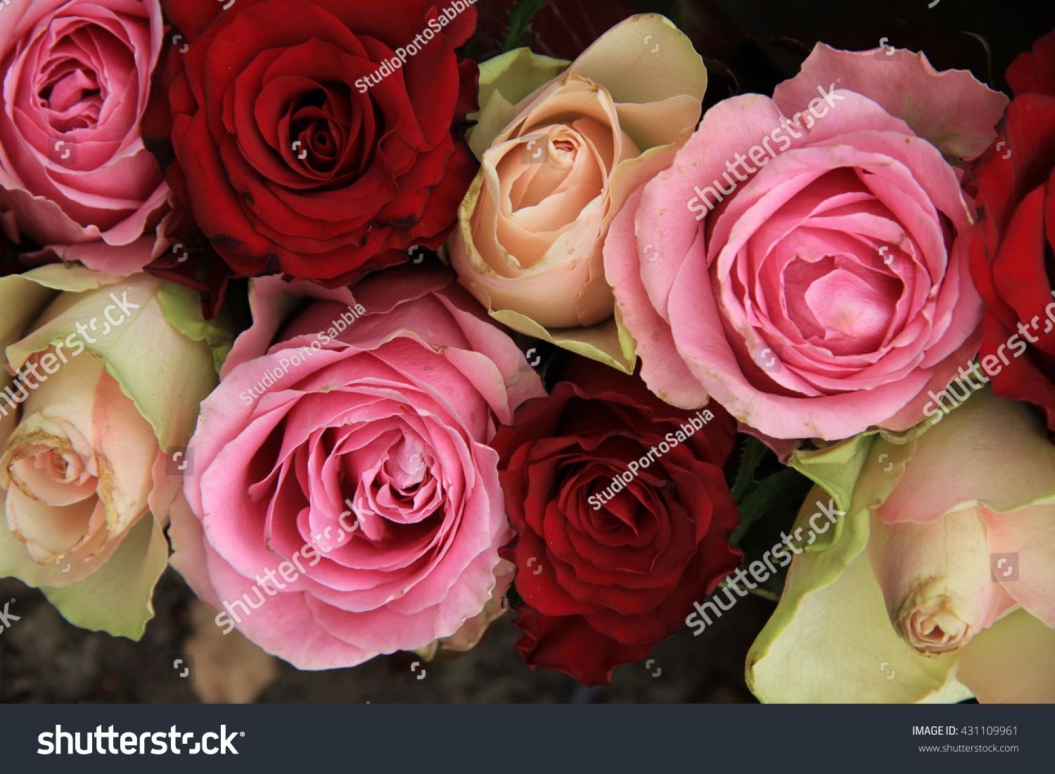 Royalty Free Wedding Flowers In Different Shades Of 431109961