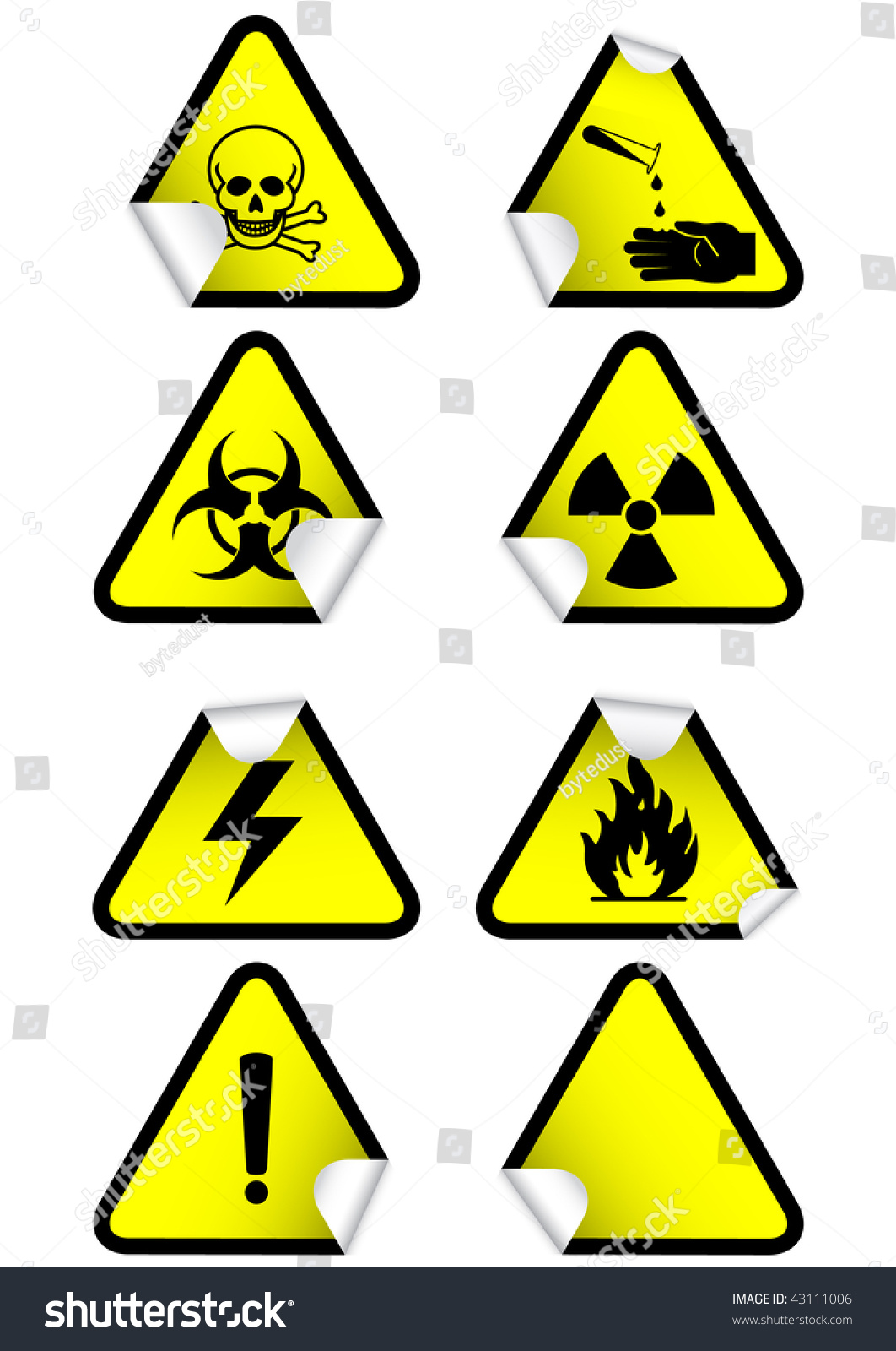 Vector illustration set different hazmat warning stock vector vector illustration set of different hazmat warning signs all vector objects and details are isolated biocorpaavc Choice Image