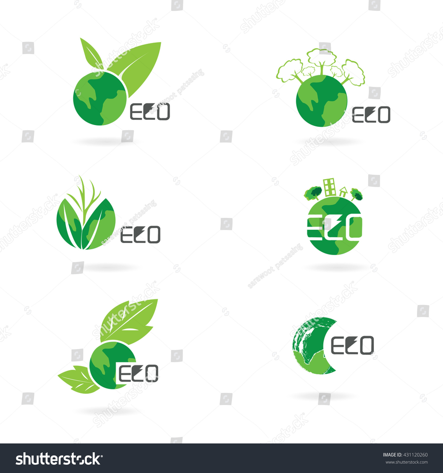 eco friendly ecology concept green eco stock vector 431120260 shutterstock. Black Bedroom Furniture Sets. Home Design Ideas