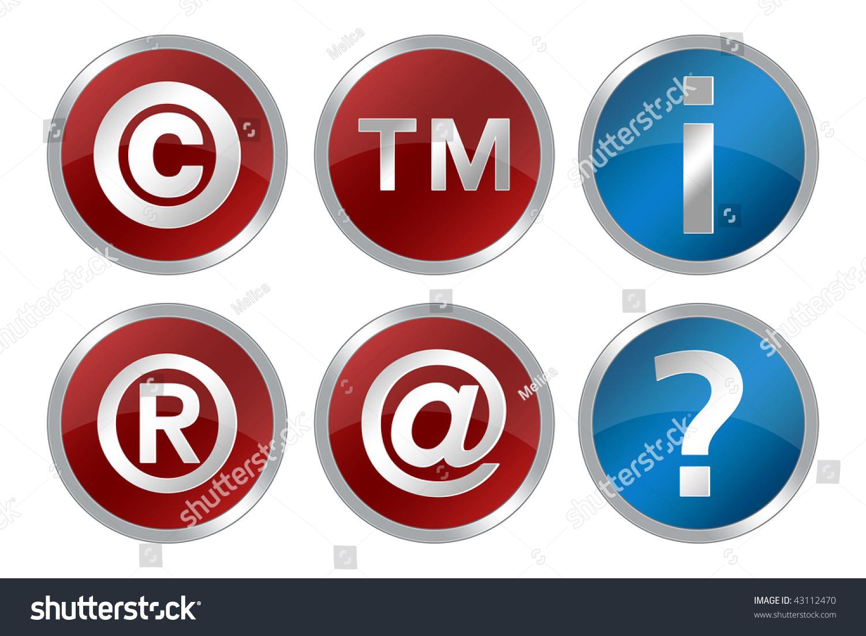 Copyright Registered Trademark Information Question Symbols Stock