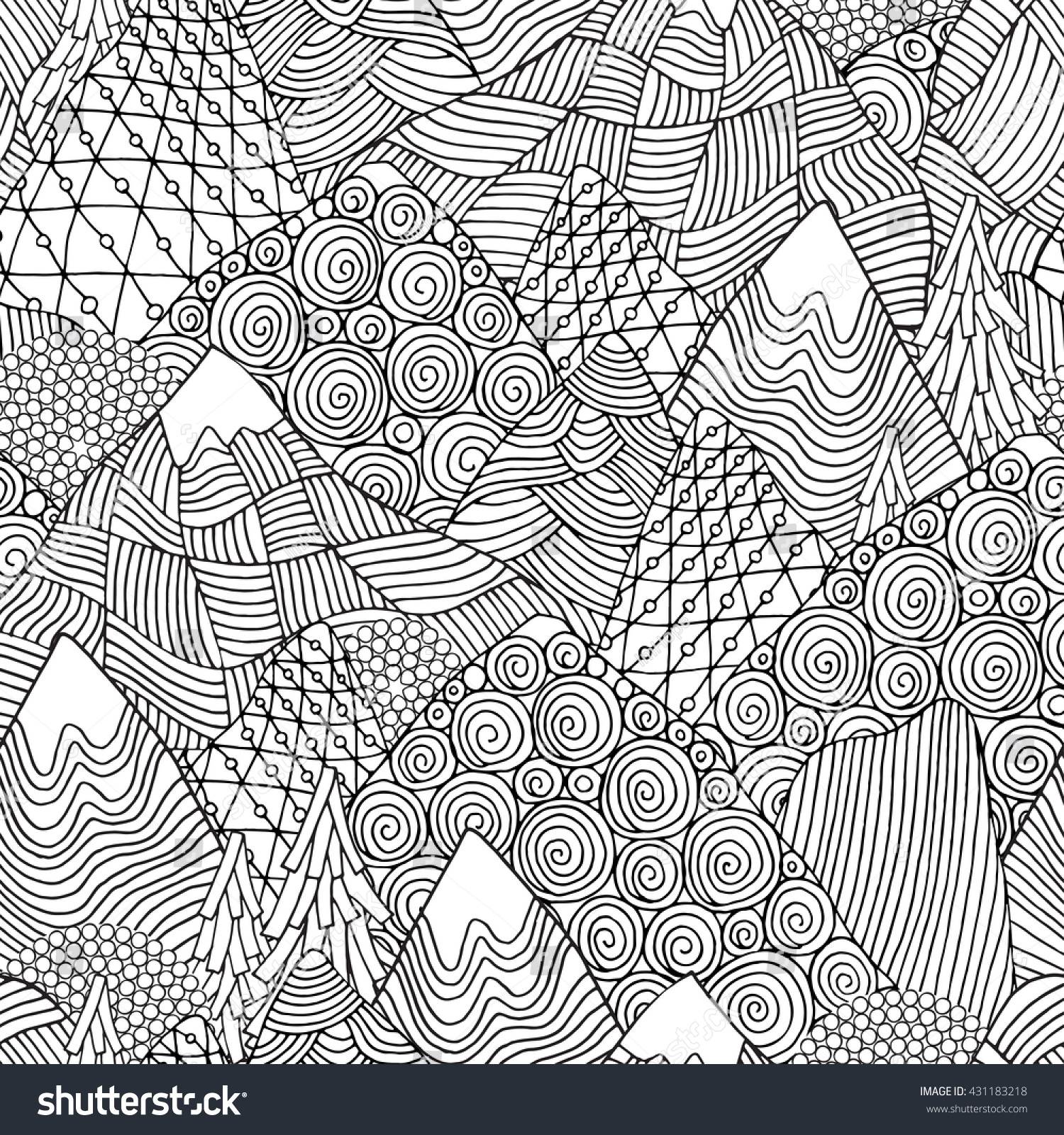 Free printable adult coloring pages snow caped mountain es for Snowy mountain coloring page