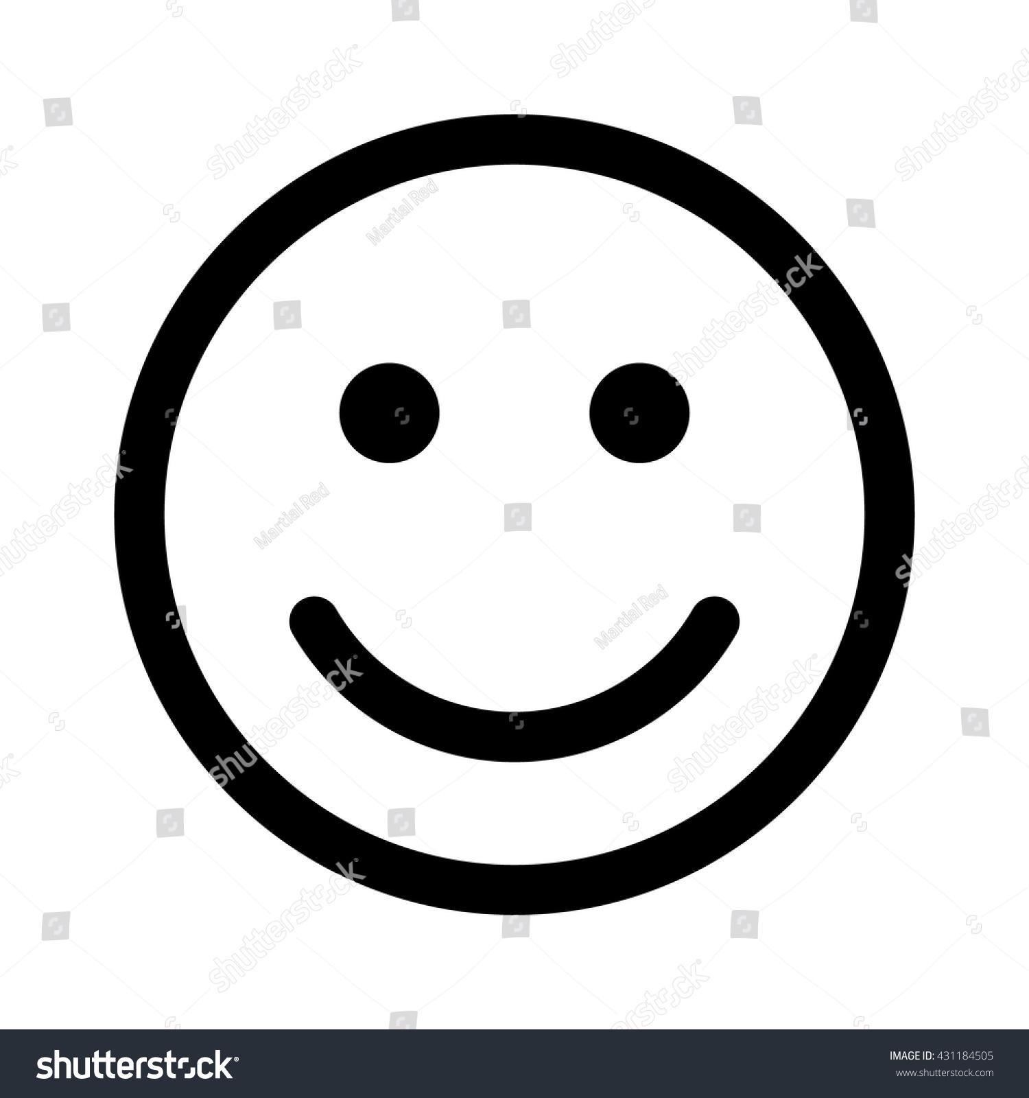 Happy Smiley Face Emoticon Emoji Line Stock Vector Royalty Free