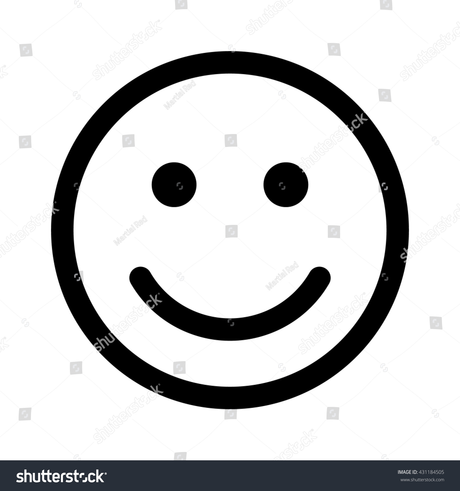 Line Drawing Of Happy Face : Happy smiley face emoticon line art icon for apps and