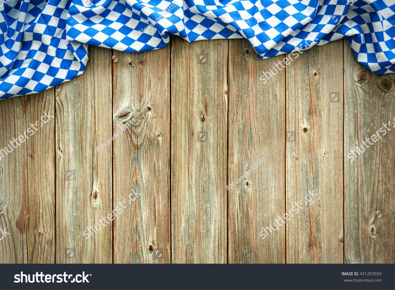 Rustic Background Oktoberfest Bavarian White Blue Stock ...