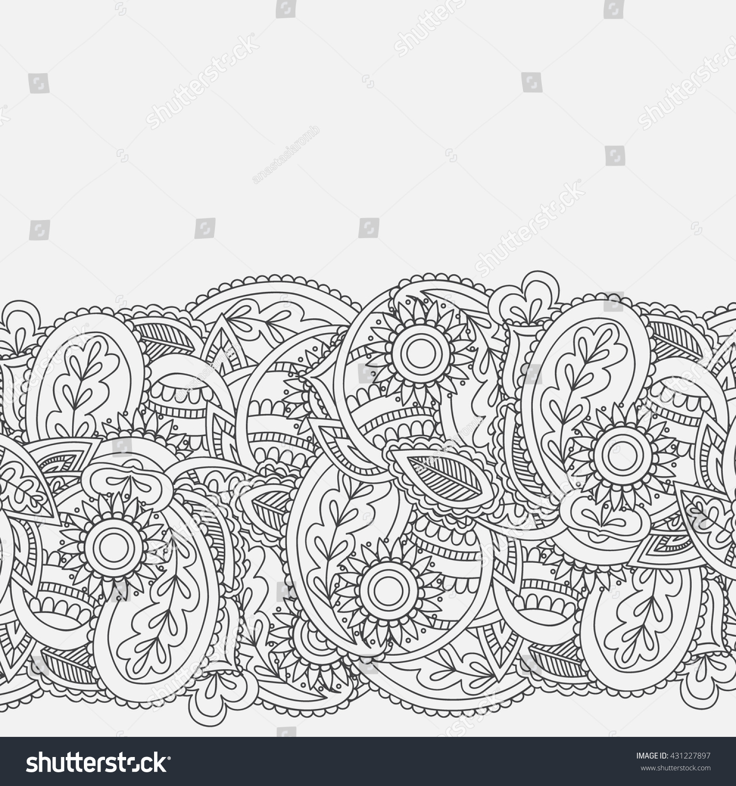 Henna Mehndi Card Template Mehndi Invitation Stock Photo Photo