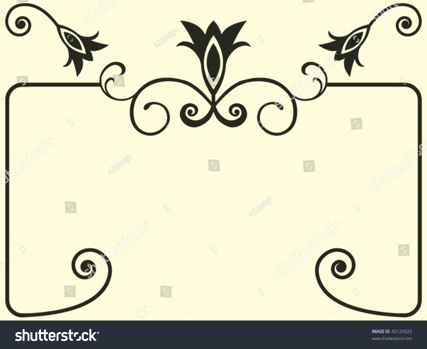Baroque design elements abstract floral vectors for Baroque design elements