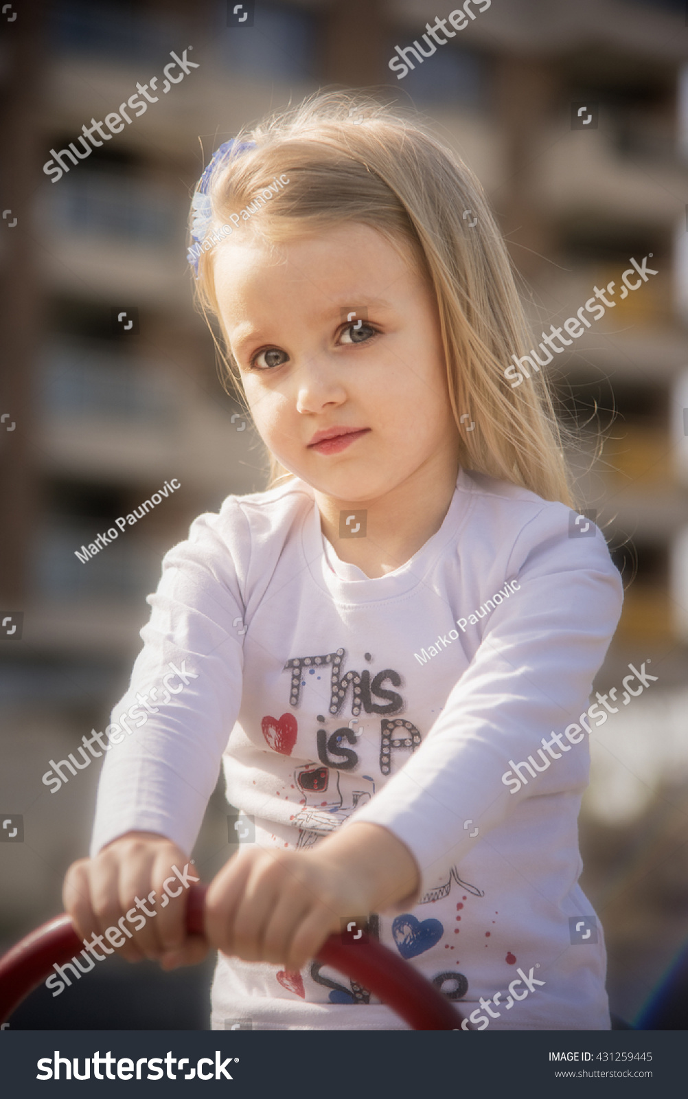 Adorable Four Year Boy With Big Blue Eyes Stock Image: Cute Little 4 Years Old Blonde Stock Photo 431259445