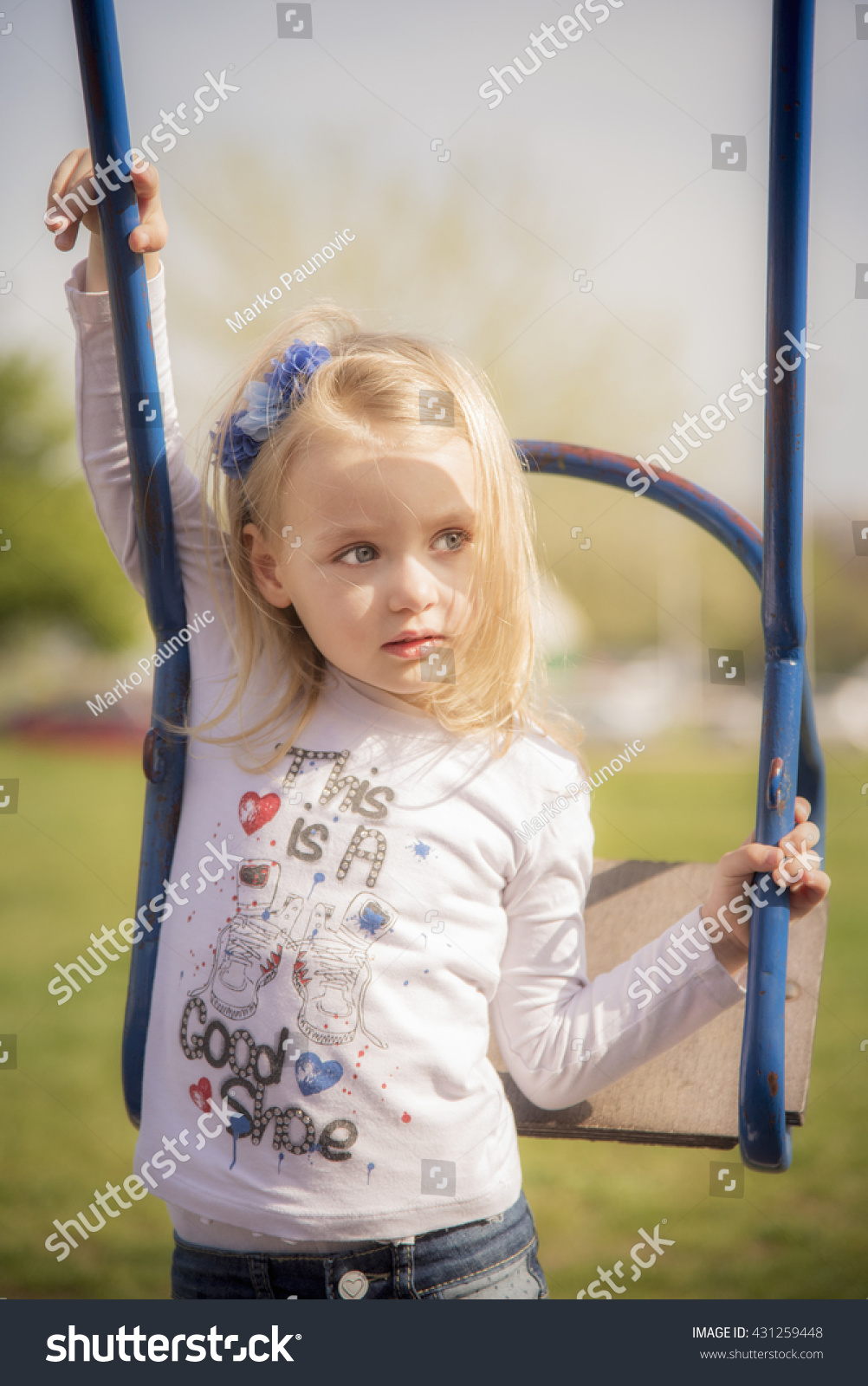 Cute Stock Photography: Cute Little 4 Years Old Blonde Stock Photo 431259448