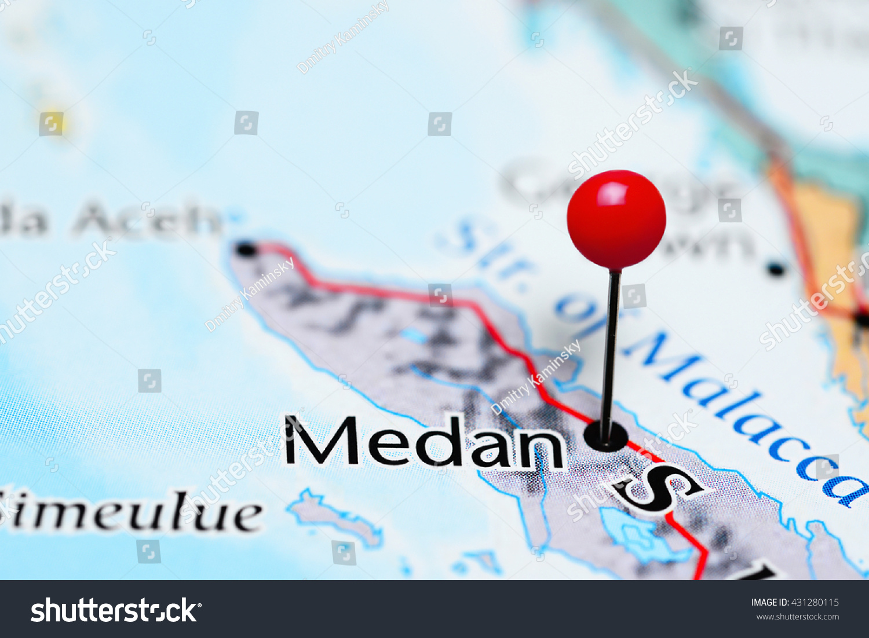 Medan pinned on map indonesia stock photo edit now 431280115 medan pinned on a map of indonesia gumiabroncs Gallery