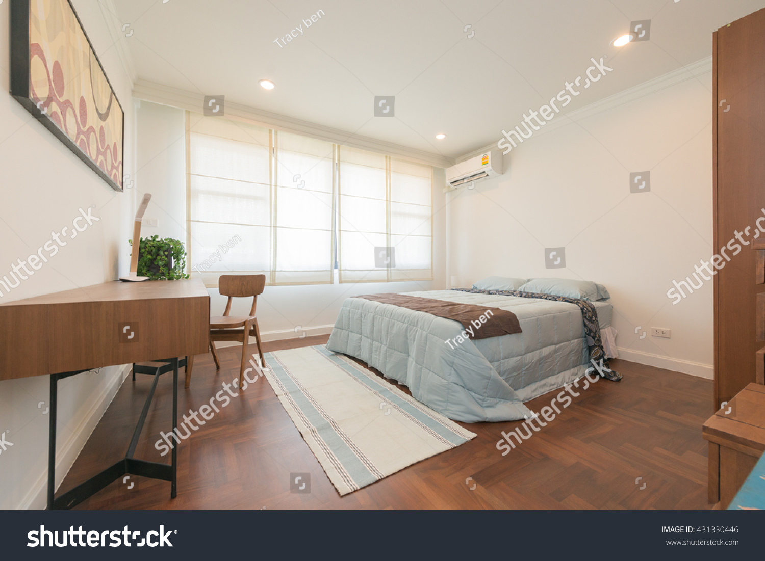 Interior bedroom modern design stock photo 431330446 shutterstock - Beautiful snooze bedroom suites packing comfort in style ...