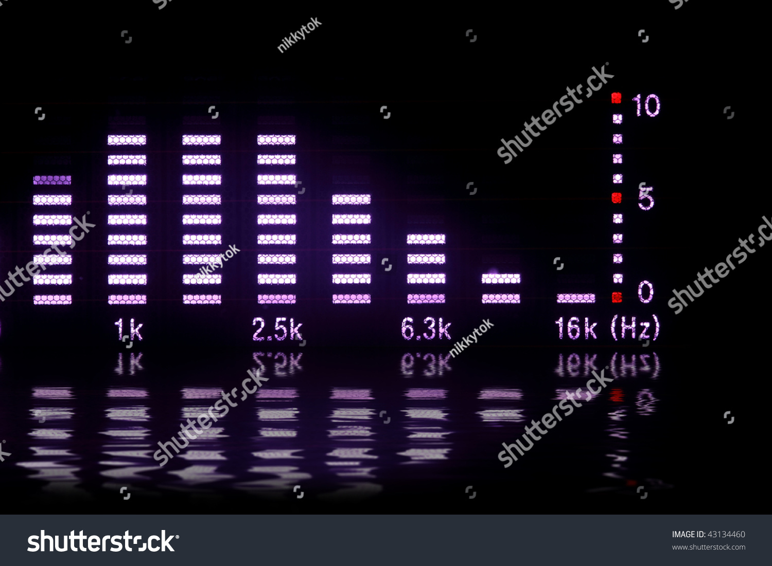 Graphic Equalizer Reflection Stock Photo (Edit Now) 43134460