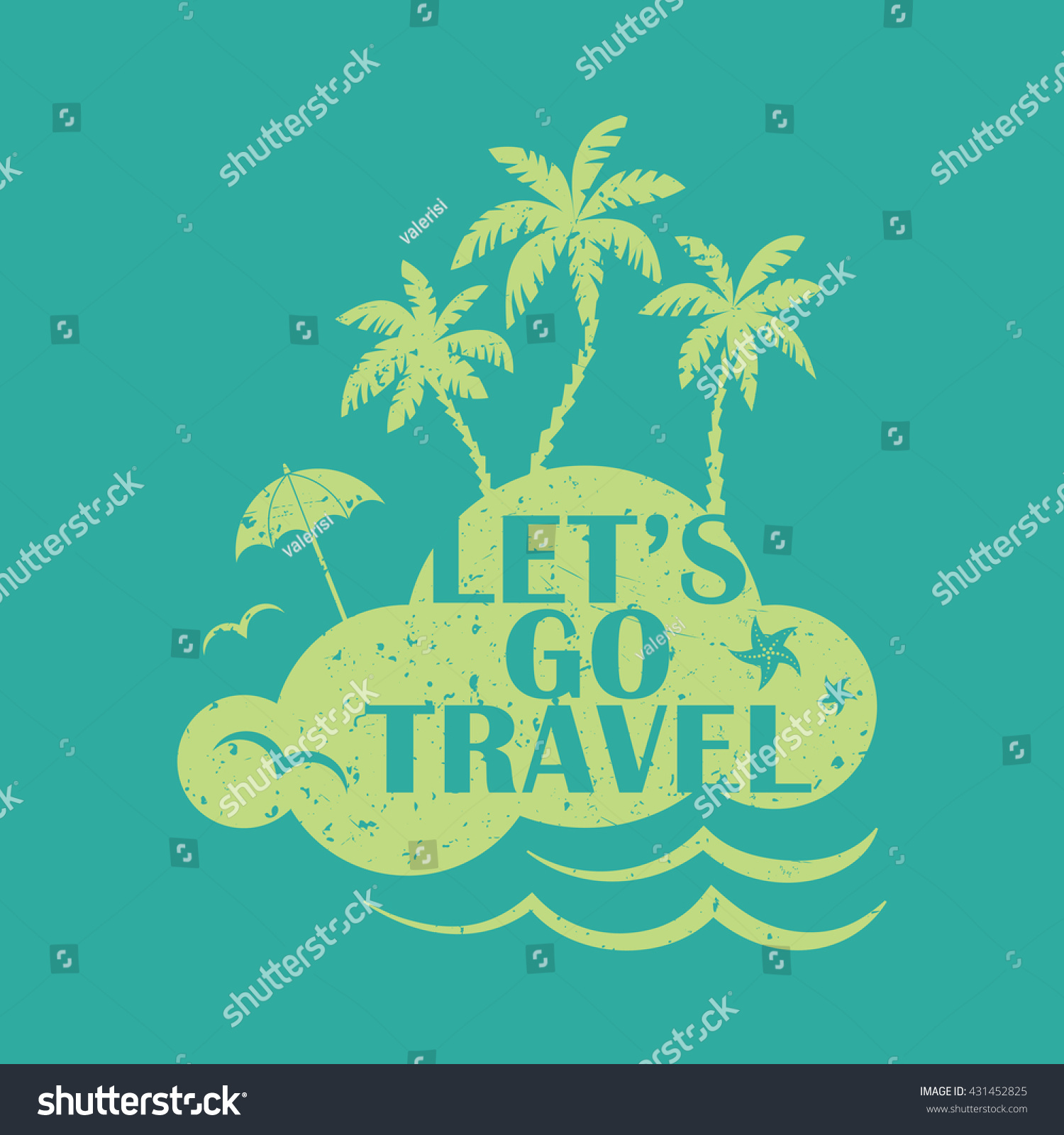 Go Travel Vacations: Lets Go Travel. Vacations And Tourism Concept Vector