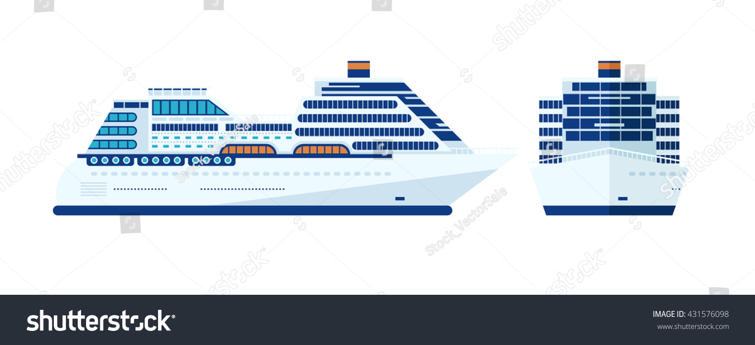 Stock vector illustration cruise ship isolated stock vector stock vector illustration of cruise ship isolated side view on white background front liner pooptronica