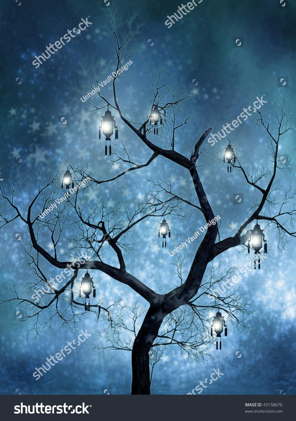 Worksheet Fairy Tree fairy tree lanterns sparkles stock illustration 43158676 with and sparkles