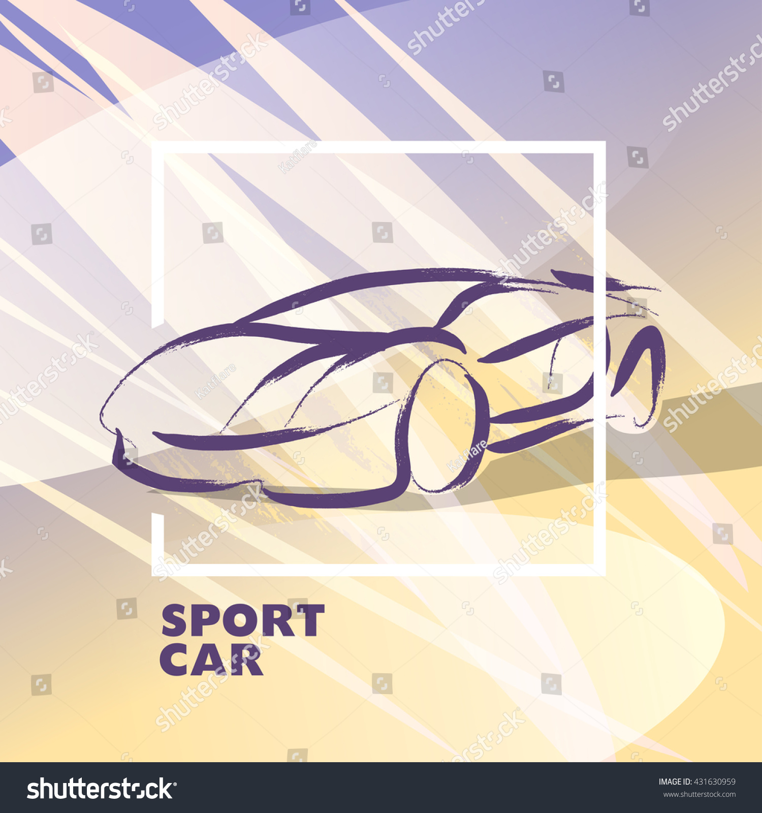 vector car sketch isolated hand drawn stock vector