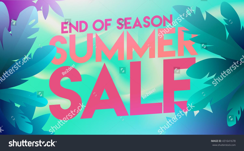 Summer Sale Banner Summer Sale Poster Stock Vector ...