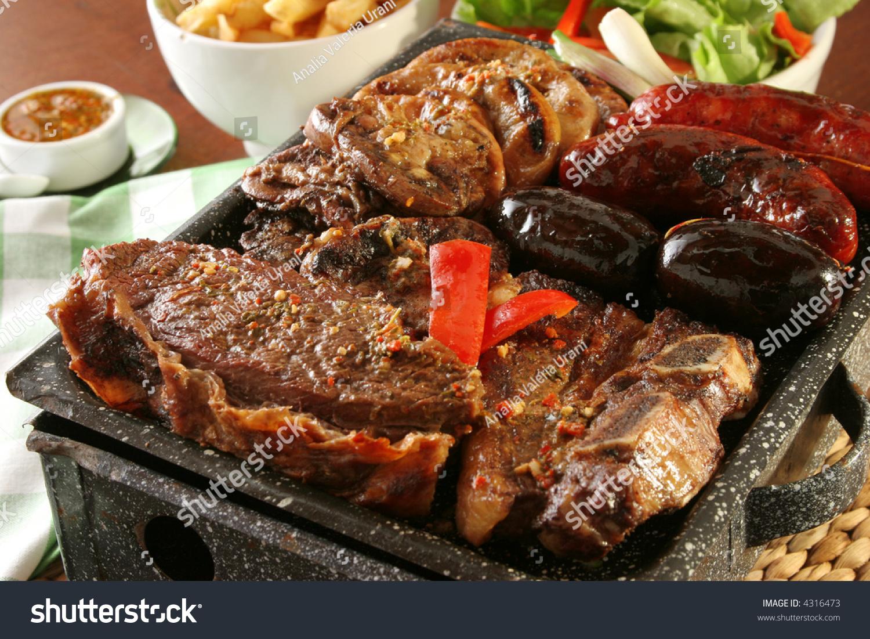 Parrillada argentine barbecue make on live stock photo 4316473 shutterstock - Make lamb barbecue ...