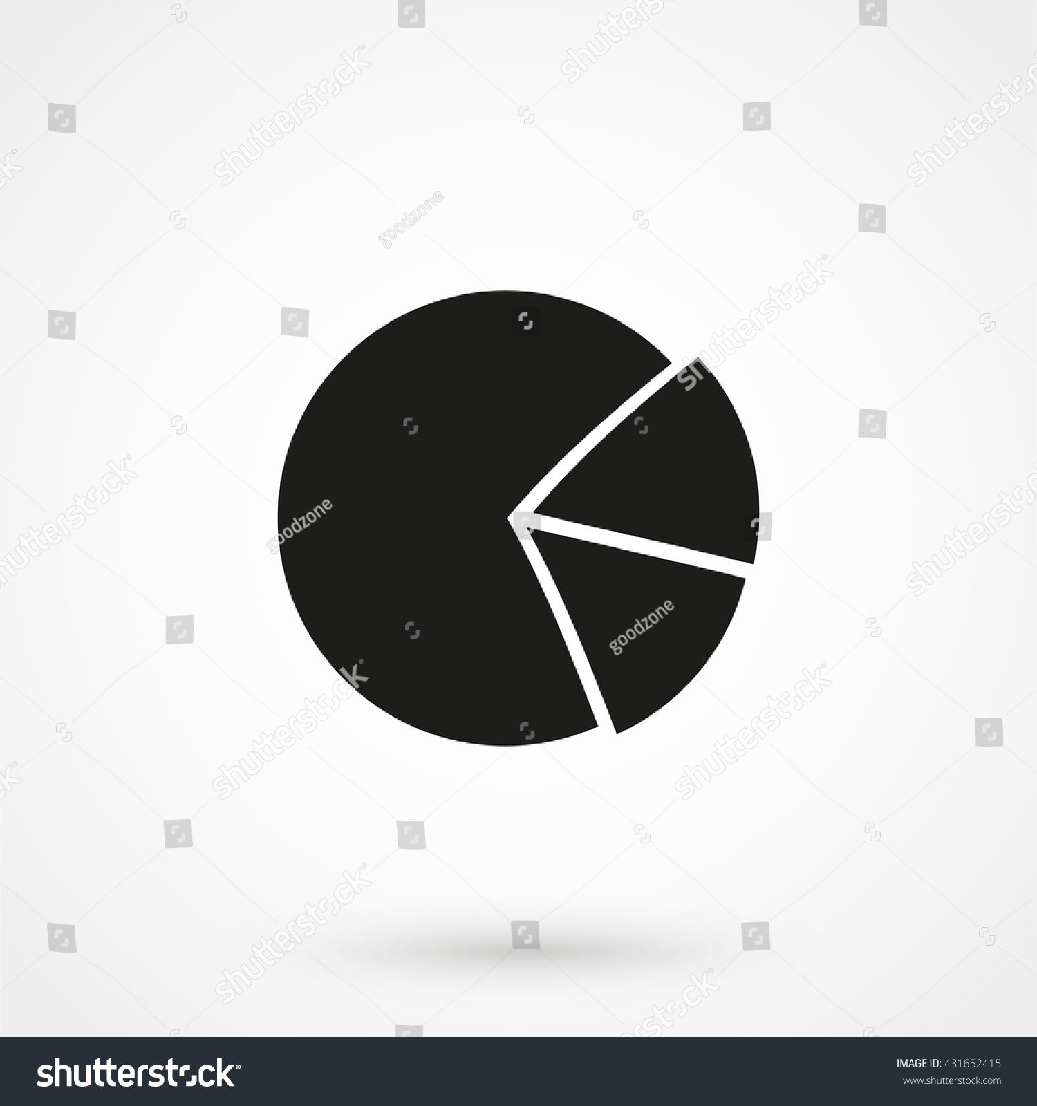 Pie chart icon isolated on background stock vector 431652415 pie chart icon isolated on background modern flat pictogram business marketing internet geenschuldenfo Gallery