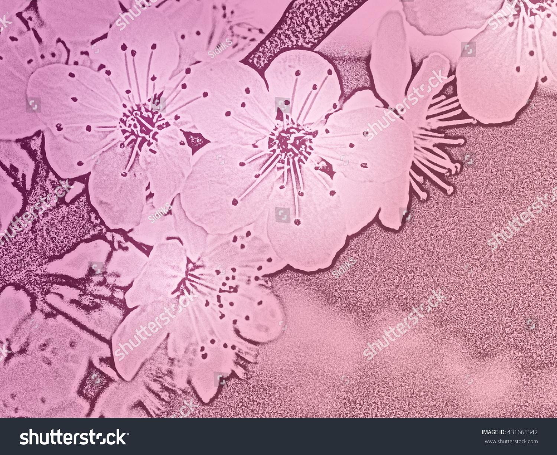 Romantic Flower Background Light Pink Color Stock Illustration