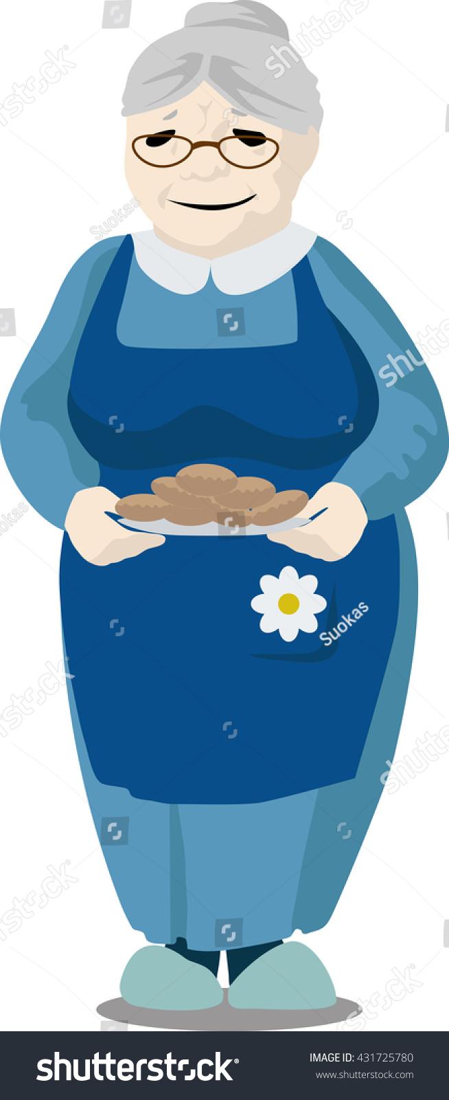 sc 1 st  Shutterstock & Grandmother Holding Plate Pies Stock Vector 431725780 - Shutterstock