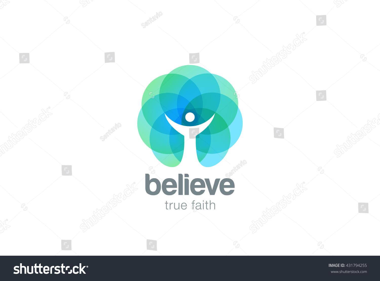 church faith logo pray religion abstract stock vector 431794255