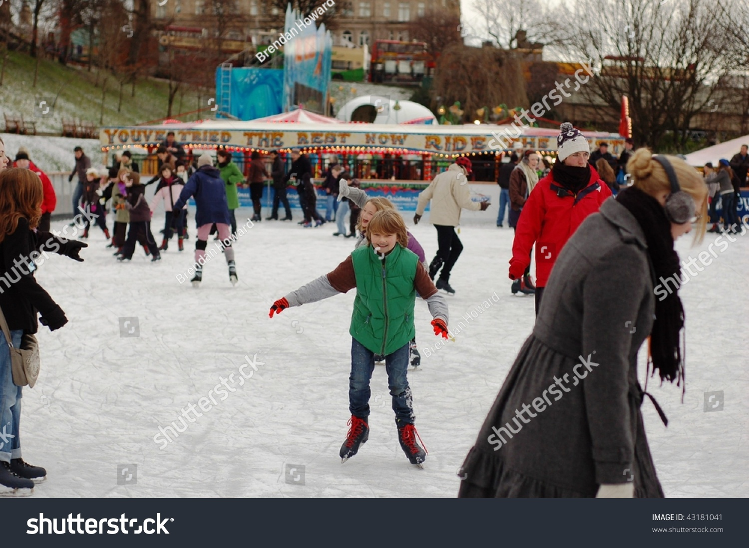 edinburgh december 20 young boy enjoys stock photo 43181041