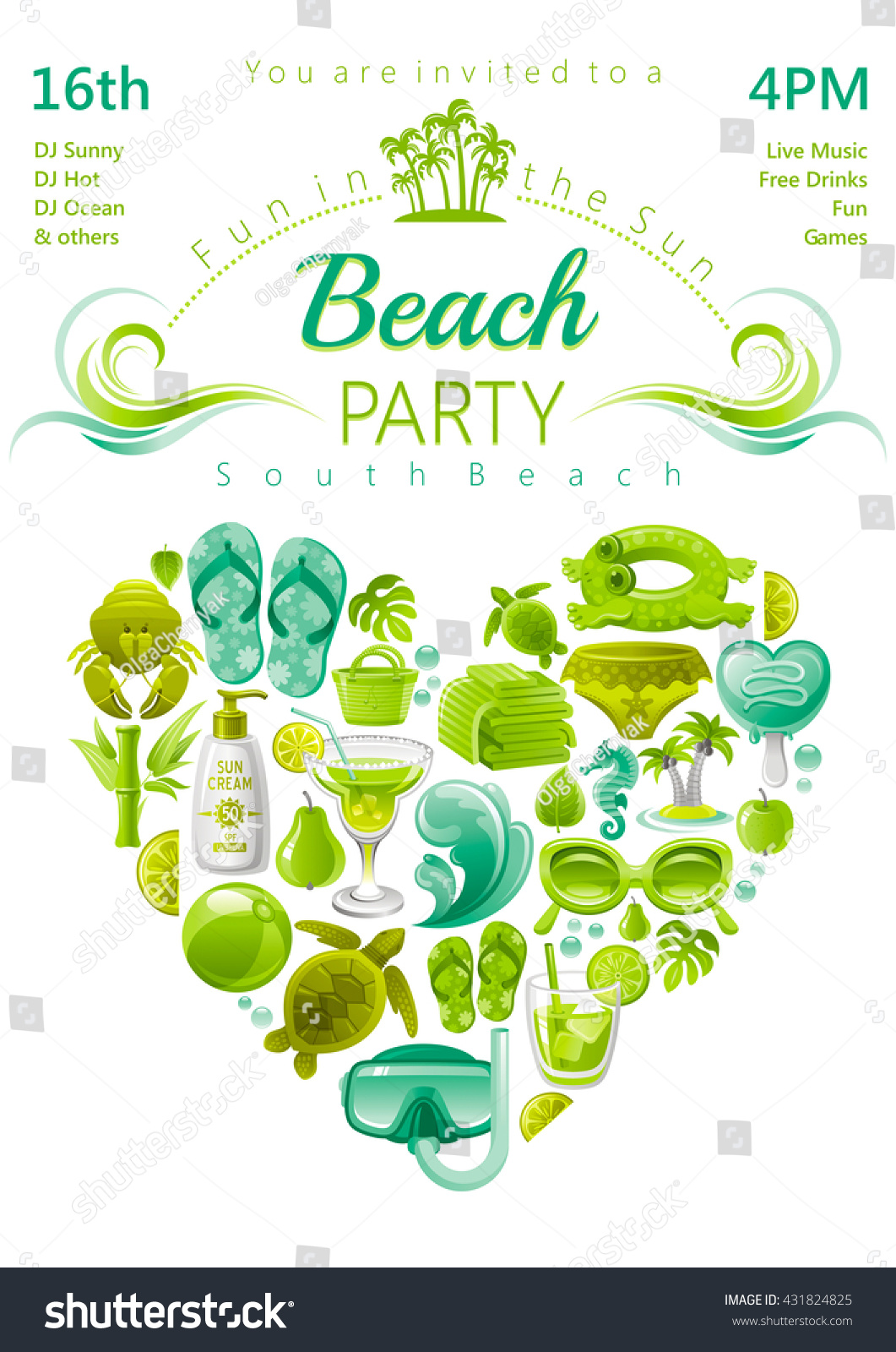 Beach Party Invite Choice Image - Party Invitations Ideas