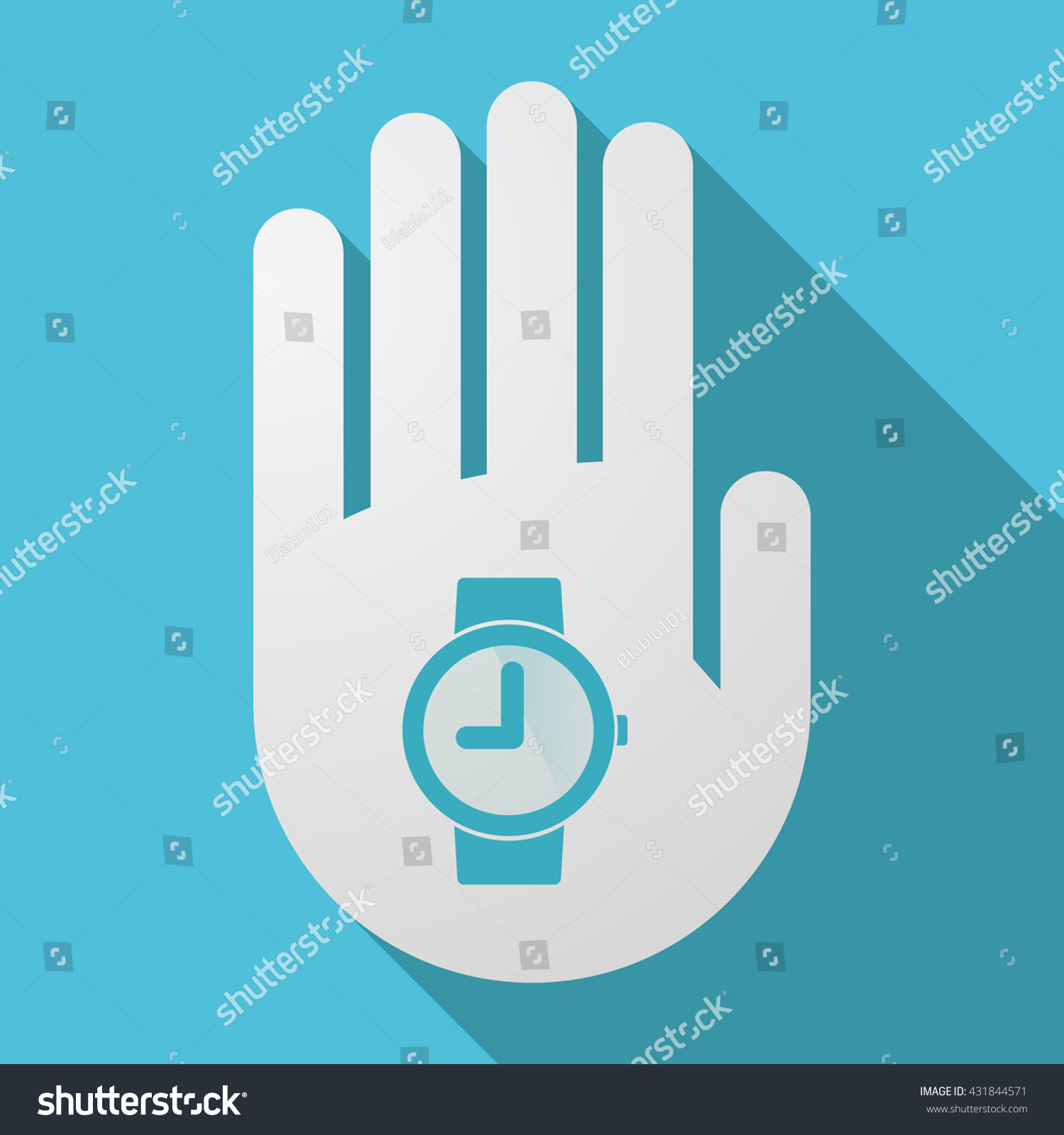 Illustration Long Shadow Hand Wrist Watch Stock Vector Royalty Free Circuit Boards With Clock Hands Image Of A
