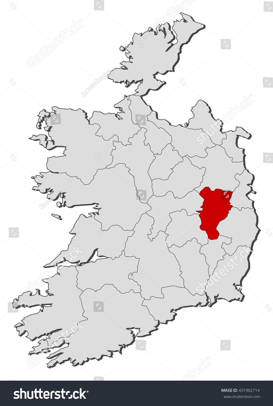 Map Ireland Kildare Stock Vector Royalty Free 431902714 Shutterstock