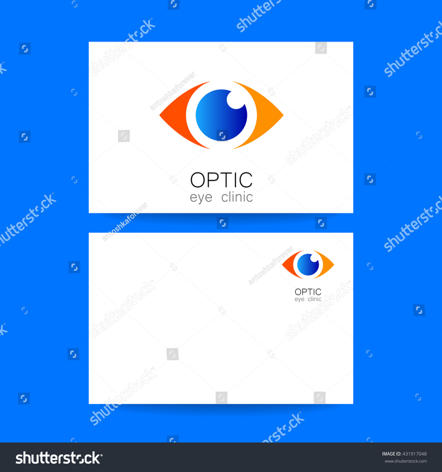 Ophthalmology Business Card. Optic Eye Clinic Logo. Optic Logo Design  Template For Medical Care