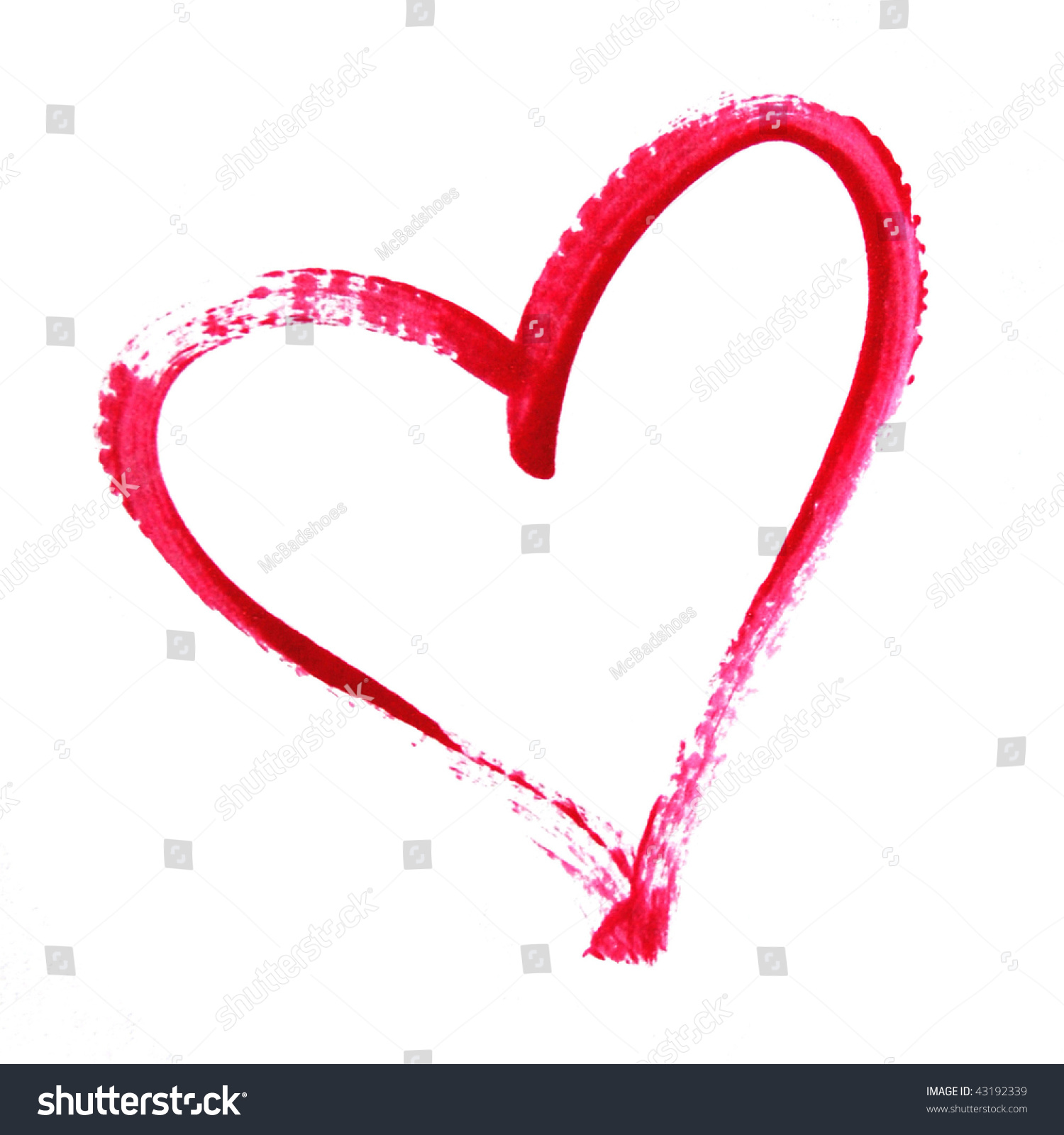 painted heart outline stock photo 43192339 shutterstock spray paint clip art black and white spray paint free clipart