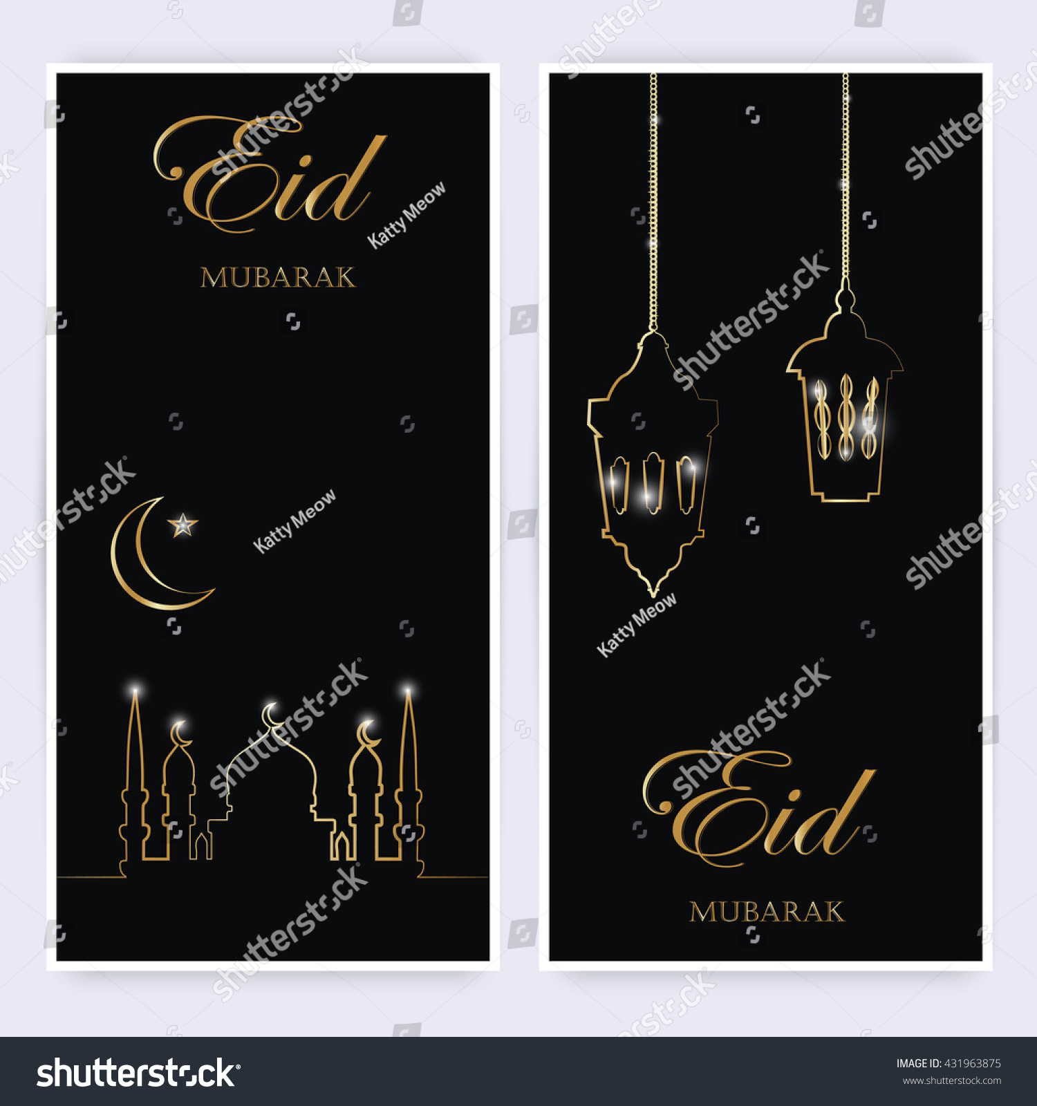 Greeting cards banners mosques star moon stock vector 431963875 greeting cards or banners with mosques star moon and arabic lamp golden design m4hsunfo