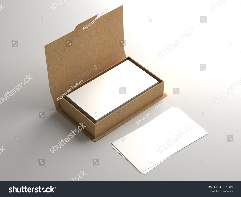 Business Card Craft Carton Box Mock Stock Illustration 431970349 ...