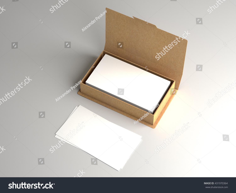 Business Card Craft Carton Box Mock Stock Illustration 431970364 ...