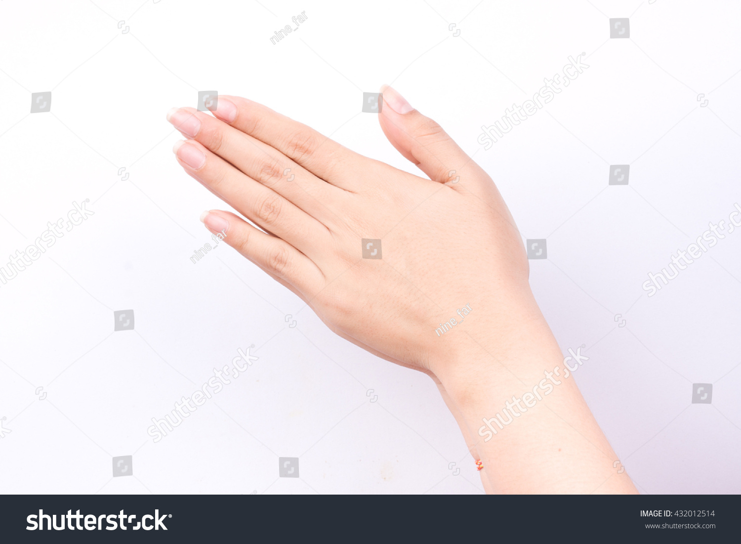 Finger hand symbols isolated concept wai stock photo 432012514 finger hand symbols isolated concept wai is the traditional thai greeting on white background kristyandbryce Images