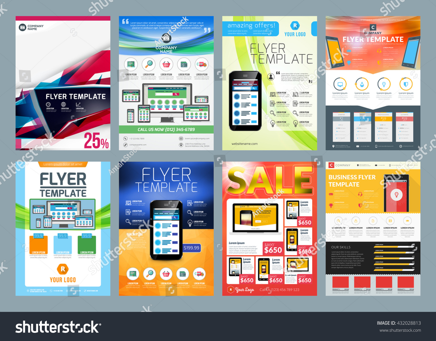 Set vector business flyer design templates stock vector royalty set of vector business flyer design templates design templates for brochures flyers mobile cheaphphosting Gallery