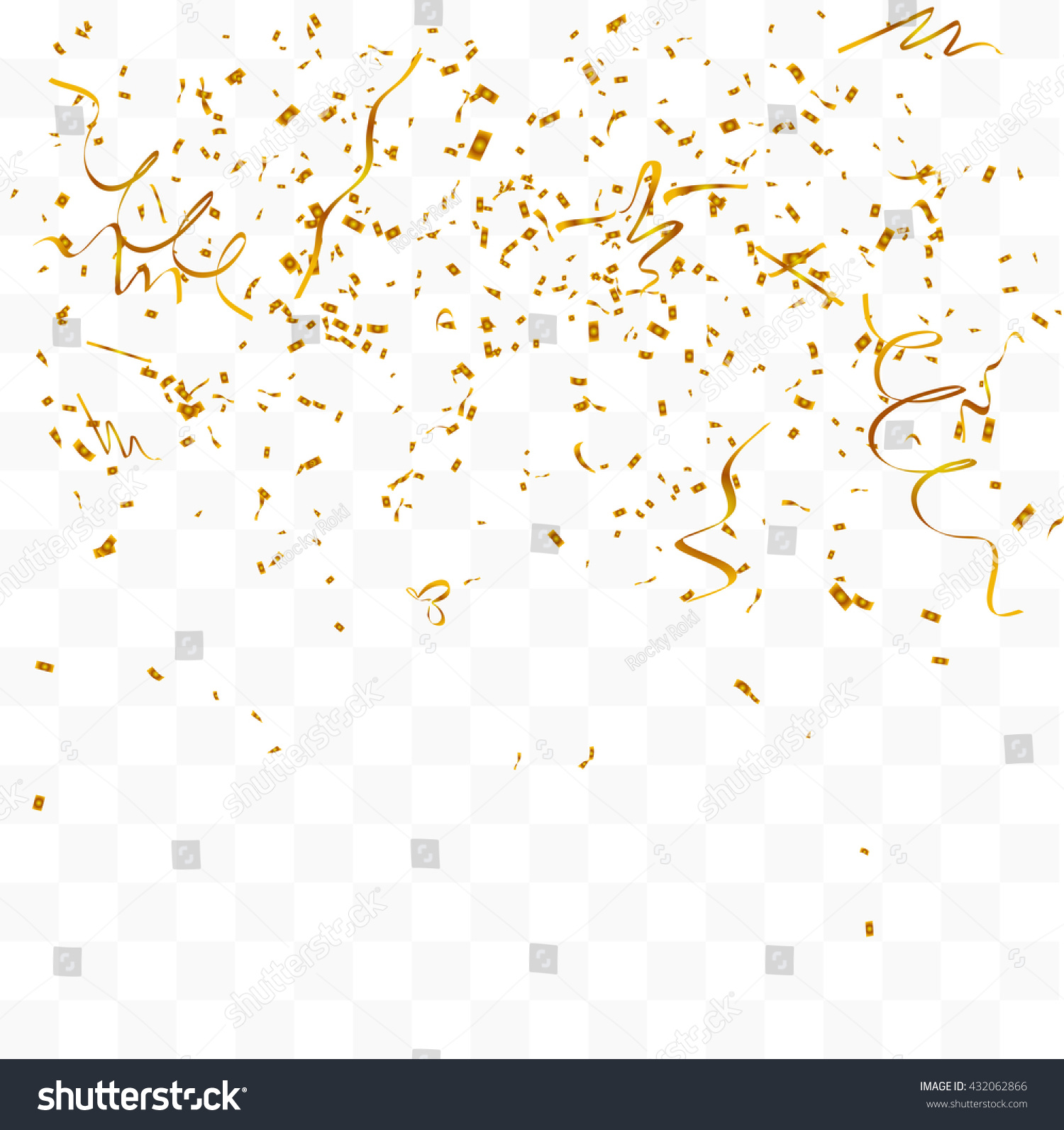 gold confetti falling abstract background many falling gold tiny stock vector 7591