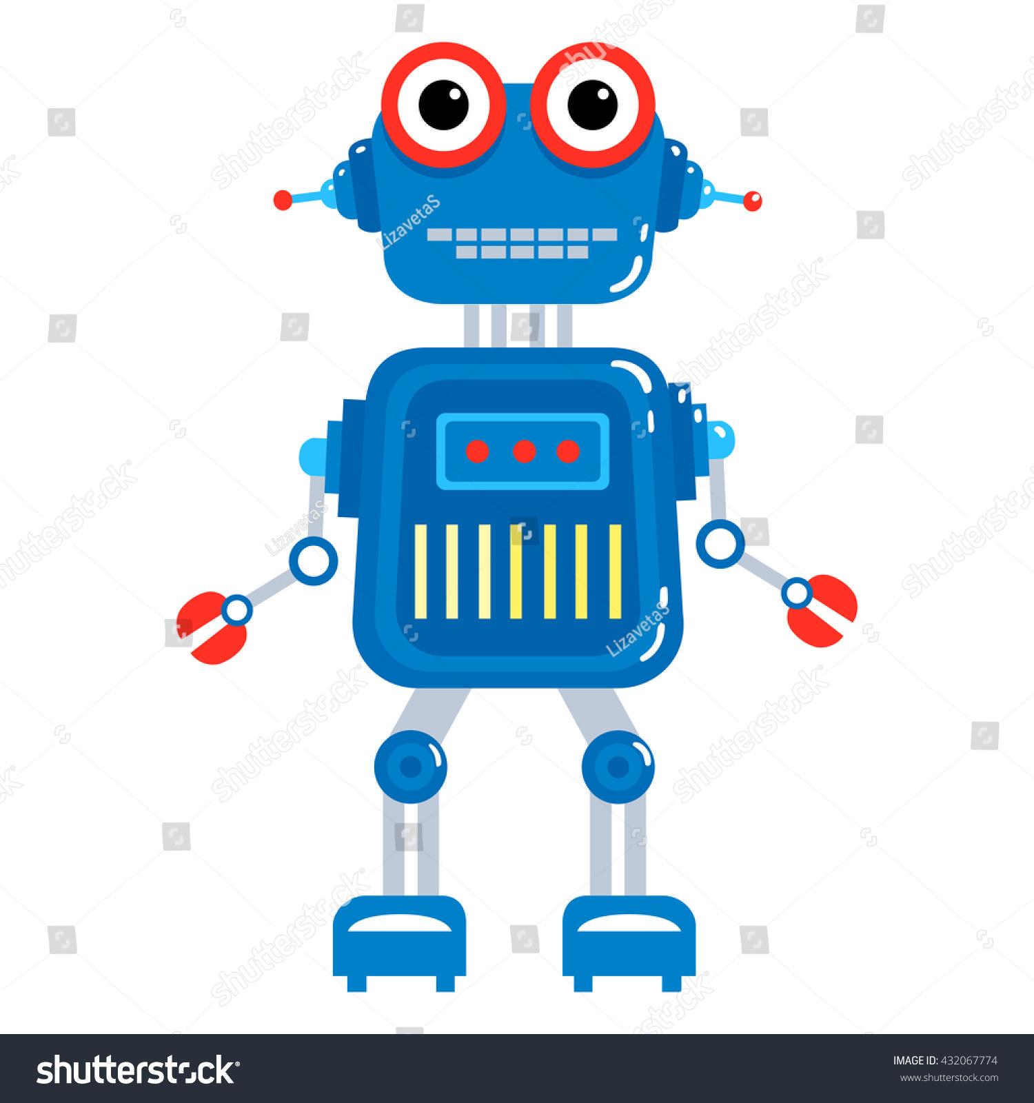 Cartoon Robot Toy : Colorful toy robot vector character cartoon stock
