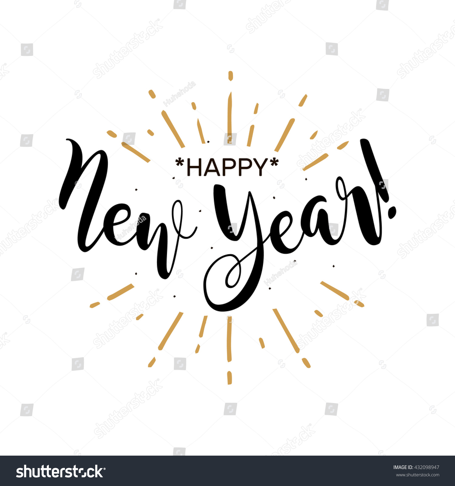 Happy New Year Beautiful Greeting Card Stock Vector (Royalty Free ...