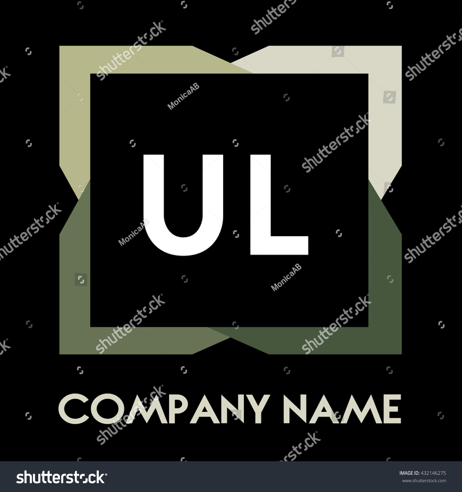 Ul Letters Business Logo Creative Icon Stock Vector 432146275