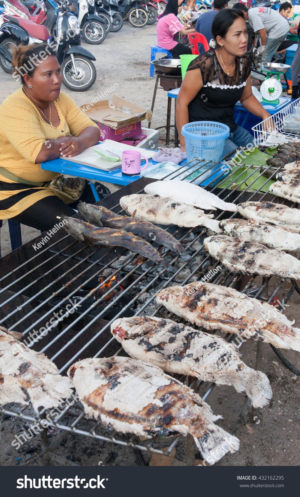Phuket thailandfebruary 6th 2014 vendor selling stock for Local fish market