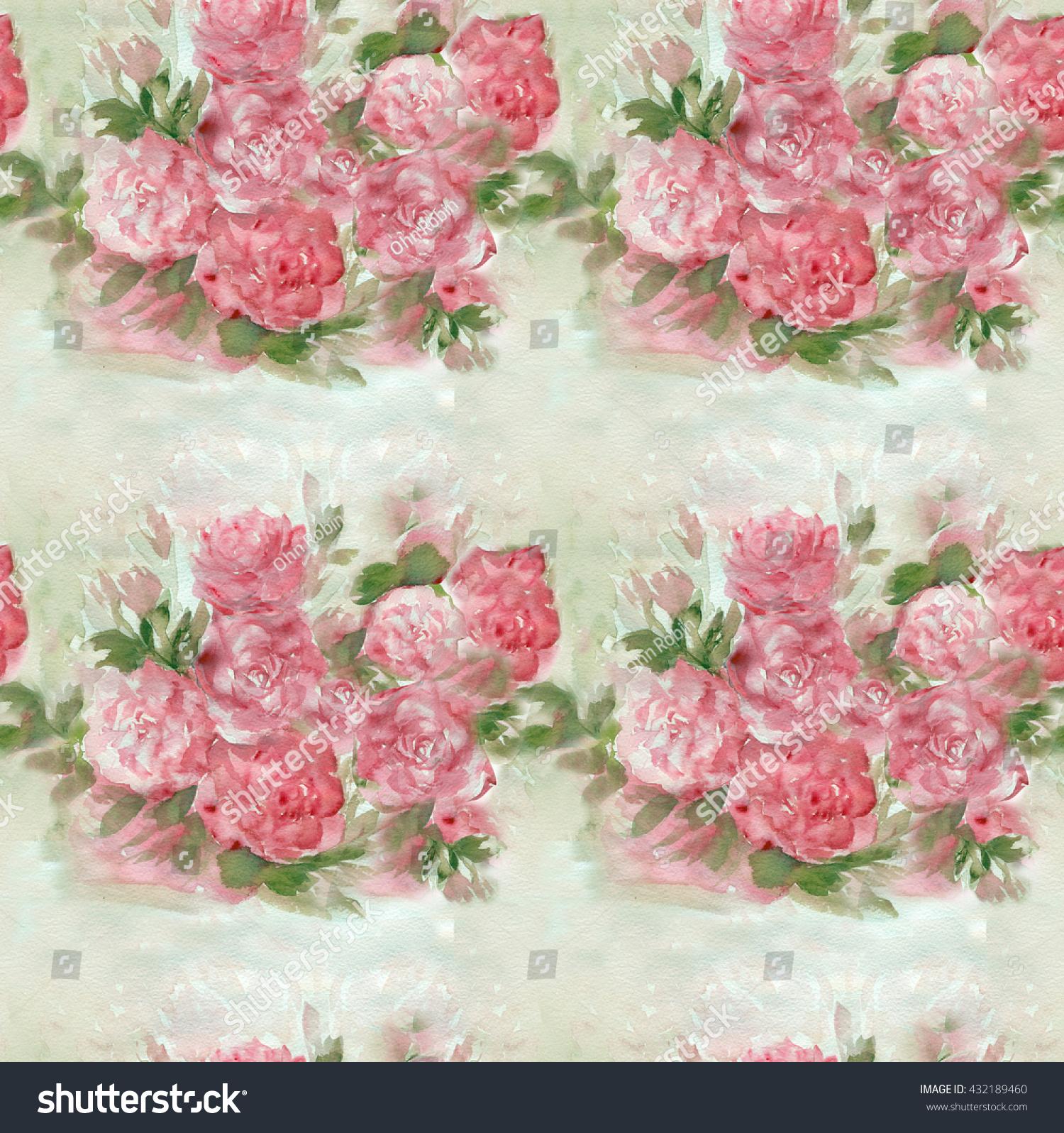 Beautiful pink rose wallpaper seamless texture stock illustration beautiful pink rose wallpaper seamless texture izmirmasajfo