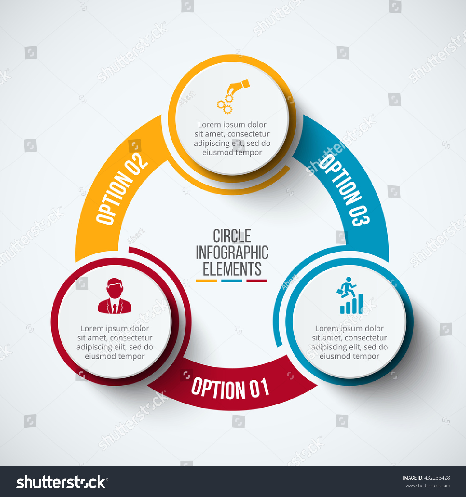 Vector infographic design template business concept stock vector vector infographic design template business concept with 3 options parts steps or processes cheaphphosting Images