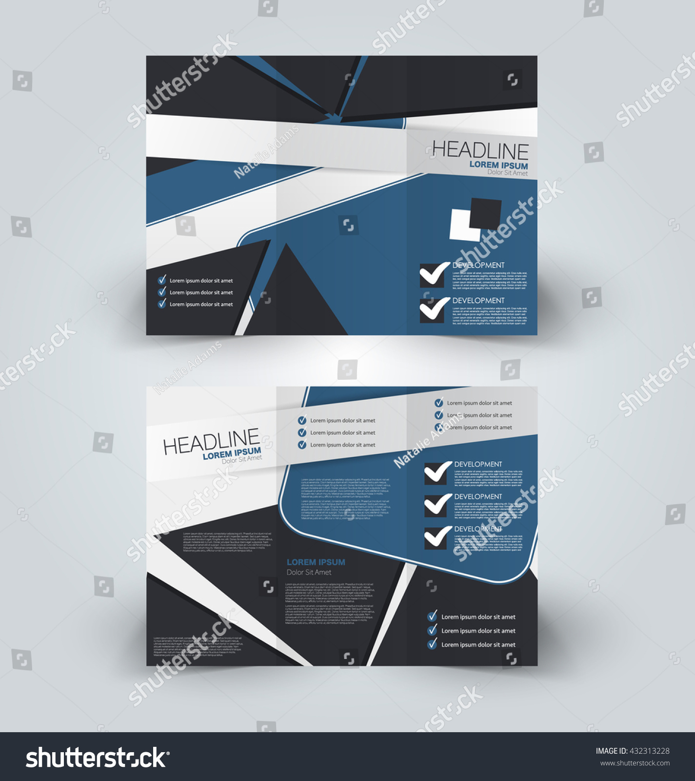 Brochure mock design template business education stock vector brochure mock up design template for business education advertisement trifold booklet editable printable magicingreecefo Image collections