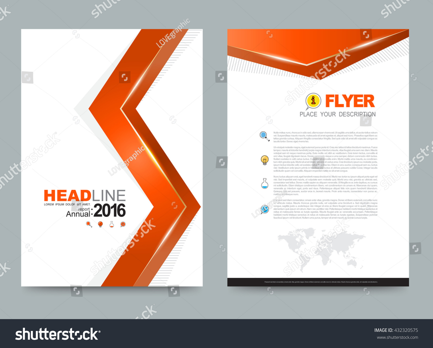 orange annual report leaflet brochure flyer stock vector 432320575 orange annual report leaflet brochure flyer template front page and back page in a4 size design