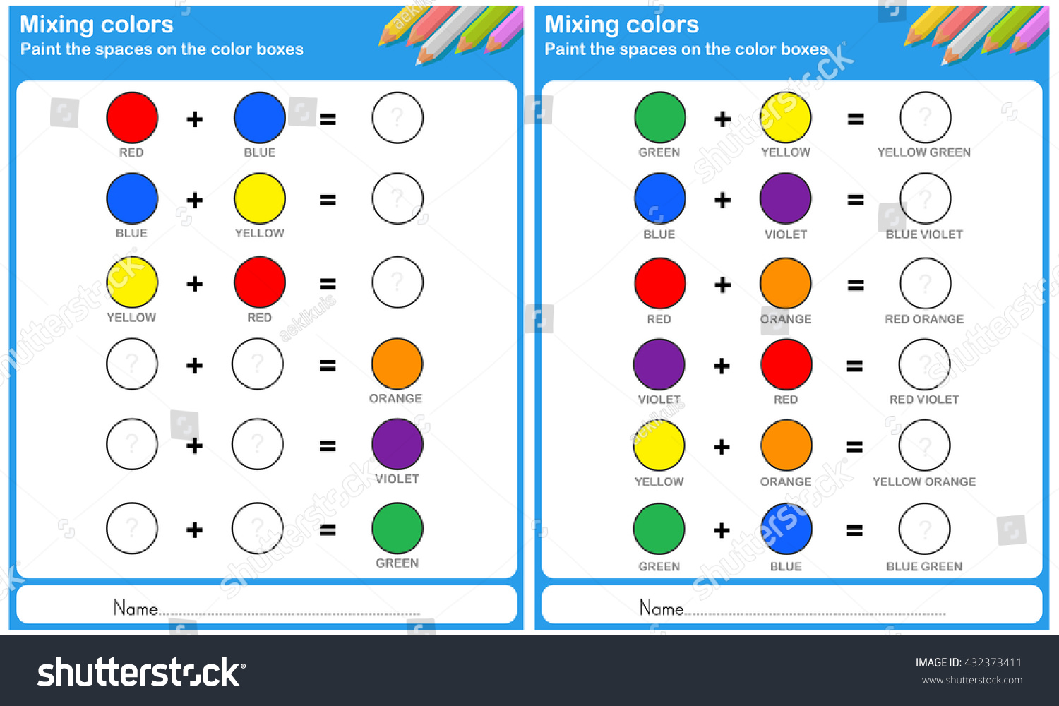 Mixing Color Paint Space On Wheel 432373411 on How To Teach English For Primary School S