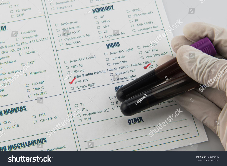 Hematology Immunology Blood Requisition Hiv Laboratory Specimen