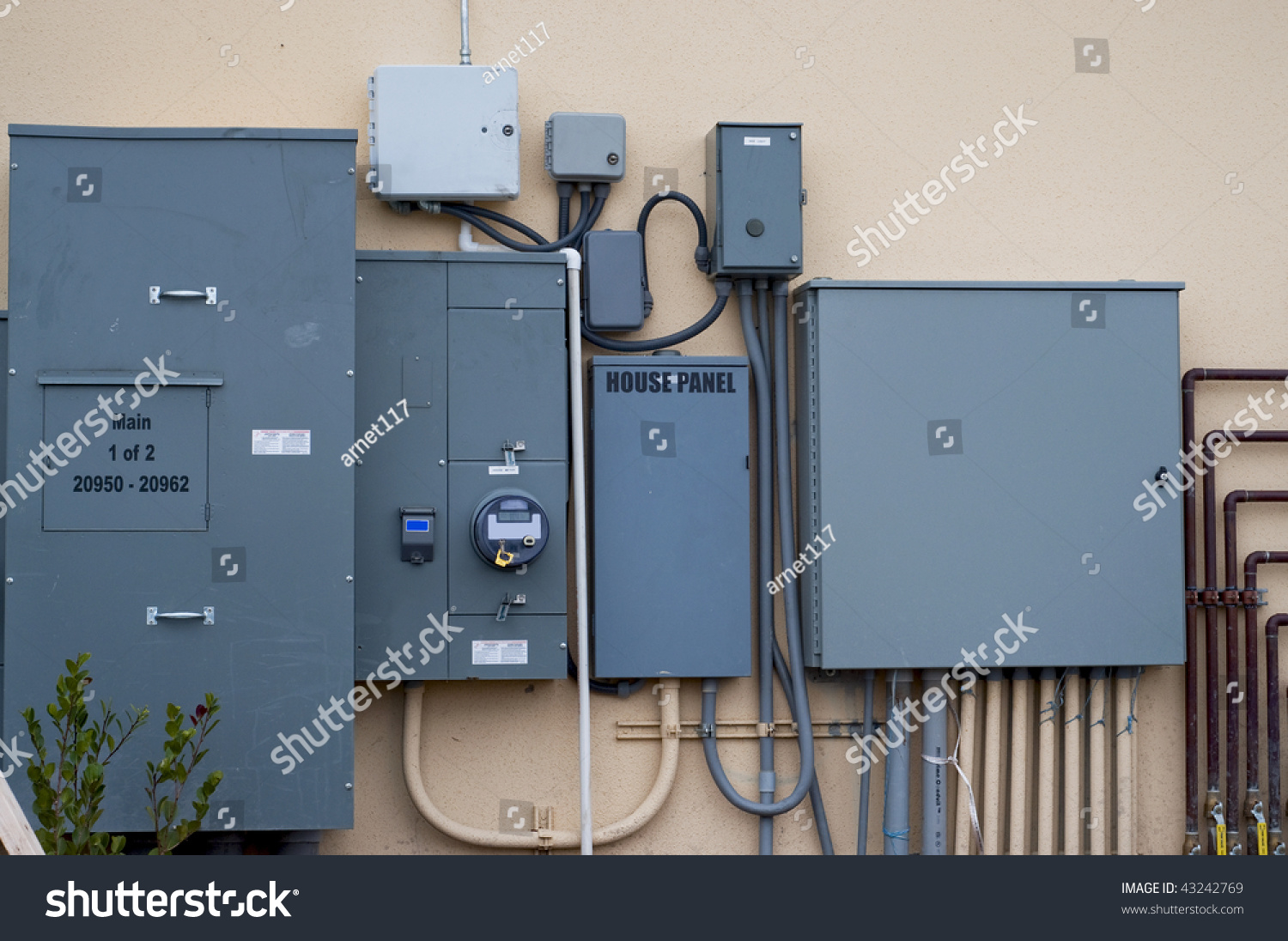 Electrical Control Panel Junction Boxes Stock Photo 43242769 ...