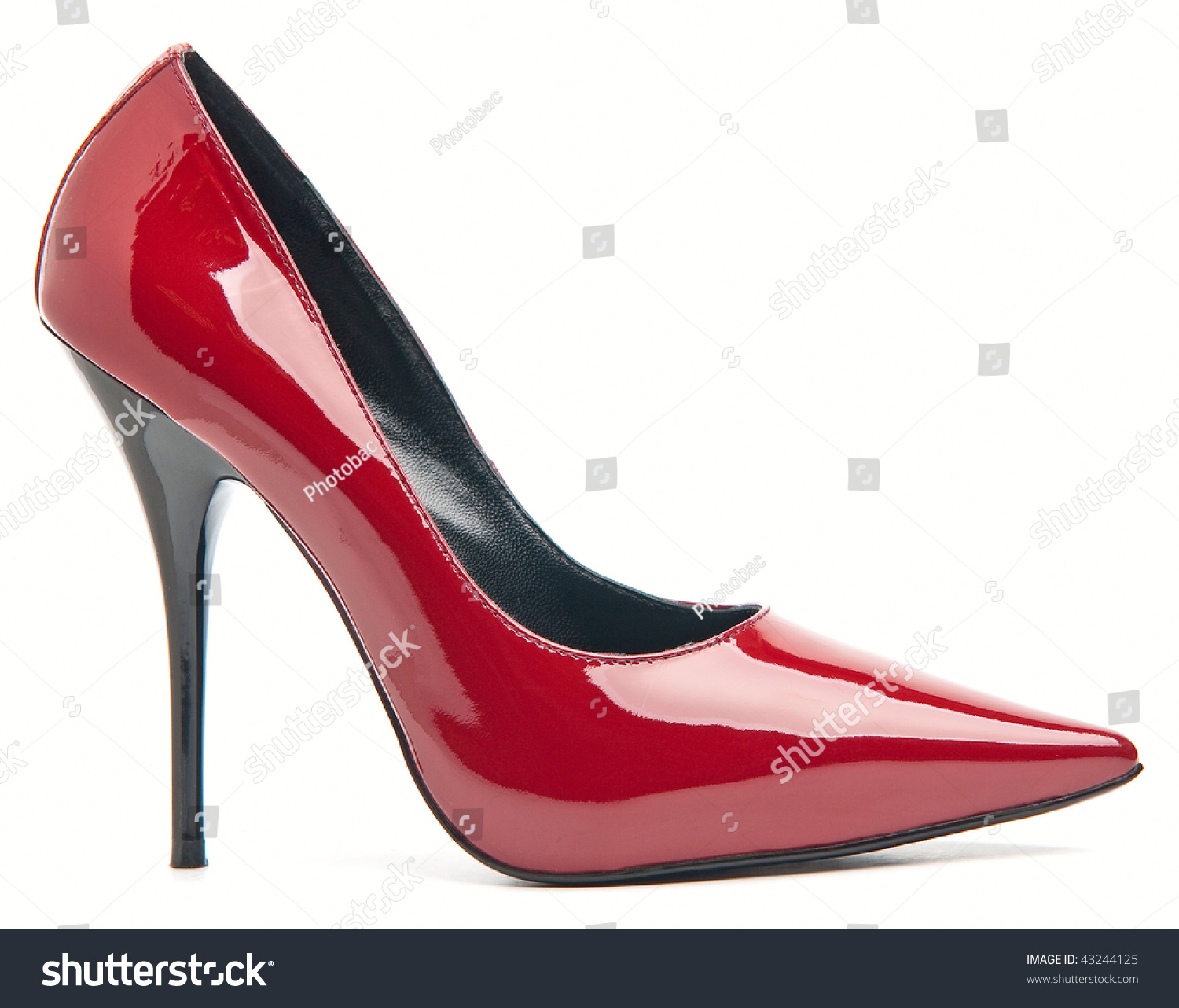 Red And White High Heels