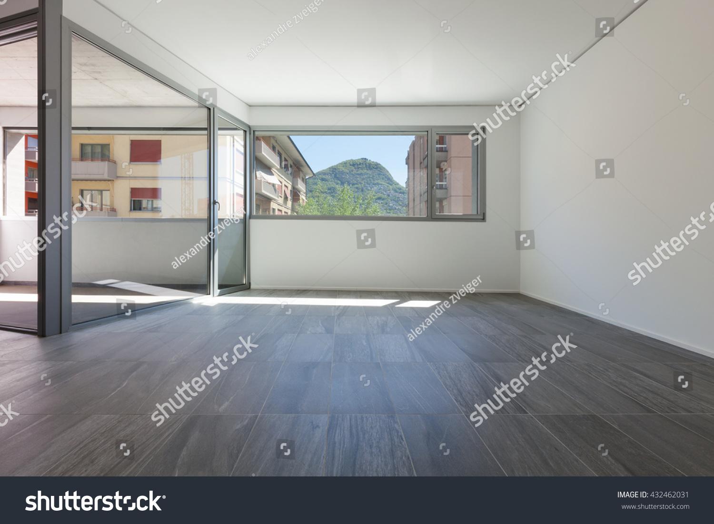 interior empty apartment wide room inside stock photo 432462031 shutterstock. Black Bedroom Furniture Sets. Home Design Ideas